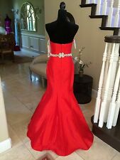 $550 NWT RED MERMAID JOVANI PROM/PAGEANT/FORMAL DRESS/GOWN #98715 SIZE 8