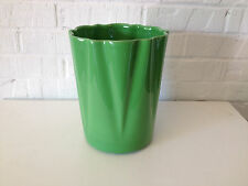 Vintage Mid Cent Alamo Pottery San Antonio Texas Green Glazed Flower Pot Planter