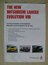 Mitsubishi Lancer Evolution VIII UK Launch Sales Brochure (2003)