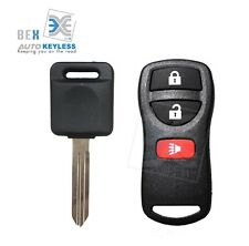 Keyless Entry Remote Fob & Uncut Key Chip Ignition For Nissan 2005-2014 Xterra