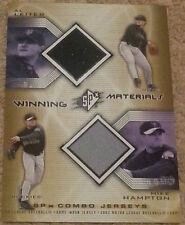 2002 Upper Deck SPX Al Leiter Mike Hampton dual jersey card Winning Materials
