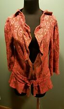 RARE Yellow Bird for Anthropologie Any-Other-Rose Pink Cardigan Sweater Small