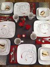 Corelle Dinnerware Set Square 16 Piece Service Dishes Kitchen Plates Dinner Cups