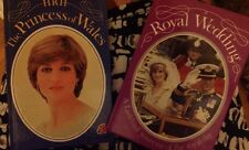 PRINCESS DIANA 2 UK LADYBIRD SMALL BOOKS PHOTOS WEDDING EARLY FASHION