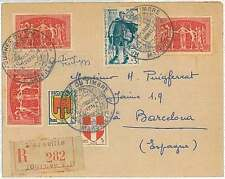 UPU - FRANCE - LETTRE - JOURNEE DU TIMBRE : MARSEILLE 1950