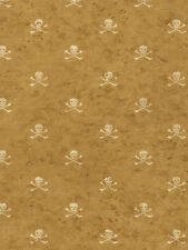 York Pirate Vintage Skull and Cross Bone Wallpaper BT2822 NEW Multiple Available