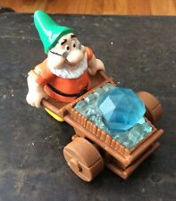 Disney Mcdonalds Snow White Dwarf Pushing Wagon Diamond Movable Parts Toy