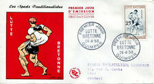 FRANCE FDC - 255 1164 2 SPORT LA LUTTE BRETONNE 26 4 1958