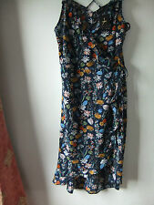 old sty floral blue flamenco sty dress sz 20 NWT wrap/over orange/green/pink