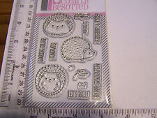 CLEARLY BESOTTED LET 'S ROLL HEDGEHOGS CLEAR RUBBER STAMPS HAPPY GRADUATION