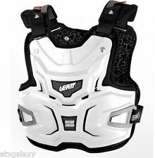LEATT ADVENTURE CHEST PROTECTOR LITE BODY ARMOUR BRACE ADJUSTABLE WHITE BMX MX