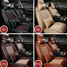 Luxury 3D Car Front Seat Cover PU Leather Car Seat Cover Cushion Soft Breathable