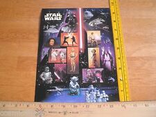 Star Wars 2007 sheet of 15 stamps full page .41 cents each Boba Fett R2D2