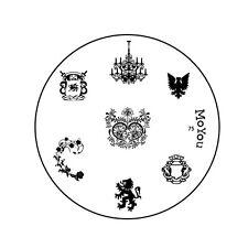 Moyou Uñas Imagen Placa 75 Para Uñas Stamping plantilla de diseño de la plantilla de manicura