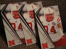 Mike Moudy Lot Four (4) Nebraska Huskers 2014 Schedule Cards OL