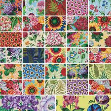 "Philip Jacobs SNOW LEOPARD BOTANICAL Precut 6.5"" Fabric Quilting Cotton Squares"
