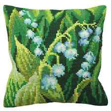 Lily of the Valley -Large Holed Tapestry Cushion Kit Printed Chunky Cross Stitch