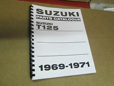 Suzuki T125 Stinger  parts manual  1969 1970 1971
