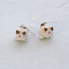 turkish van cat earrings
