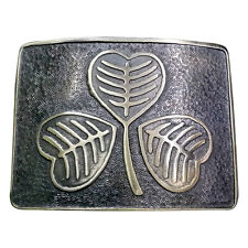 Men's Highland Kilt Belt Buckle Irish Shamrock Antique/Shamrock Kilt Belt Buckle