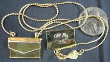 Vintage Goldtone Necklace All My Love Locket & Charm Biagi 16""