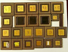 Lot Of Mixed Ceramic AMD And INTEL Gold Cup CPU's For Scrap Gold Recovery