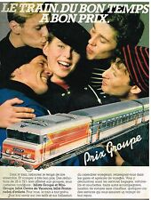 Publicité Advertising 1983 Transport Train SNCF ....Prix Groupe