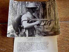 "ORIGINAL WW2 LARGE PHOTOGRAPH "" LIFEBUOY FLAME THROWER "" 10 OCT 1944"