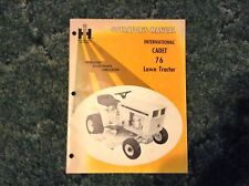 1083656R1 - Is A New Operators Manual For A Cadet 76 Lawn Mowers.