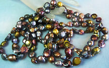 60 inch Long Multi Color Gorgeous Cultured Pearl Necklace Honora? Estate Jewelry