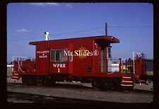 Original Slide Willamett & Pacific Transfer Caboose 1 In 1993 At Albany OR