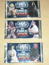 LOT 3 PAQUETS TRADING CARDS STAR WARS TOPPS FORCE ATTAX / LUC, LEIA, YODA / NEUF