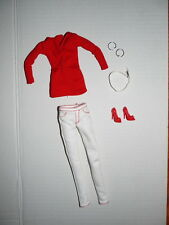 Barbie Model Muse Fashion BARBIE BASICS Target Red Top and White Pants