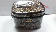 Victoria's Secret Leopard Makeup Cosmetic Makeup Bag Train Case