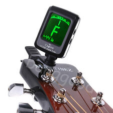 LCD Clip on Guitar Digital Tuner For Electronic Chromatic Bass Violin Ukulele UK