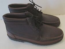Men's Sz 18 D Leather CHUKKA BOOTS Hitchcock?  Made in USA Brown