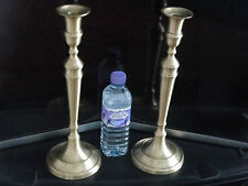 "A pair of Large  brass candlesticks Art Deco style Height 14 ""  Rare"