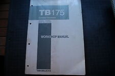 TAKEUCHI TB175 Excavator Trackhoe Crawler Repair Shop Service Manual book owner