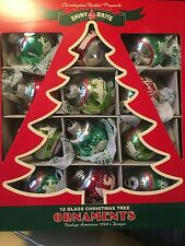"RADKO SHINY BRITE Holiday Splendor Signature Flocked 1.75"" 4027007"