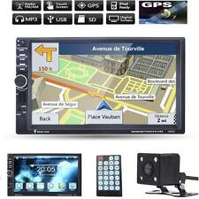"New GPS Navi 7"" HD 2 Din Bluetooth Car In-Dash Radio MP5 Player USB+ Camera"