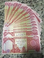 50,000 Circulated Crisp Authentic New Iraqi Dinar 2 X 25,000 Free Shipping
