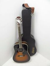 Used Alvarez Electric Acoustic Guitar AD80SSB 6 String Fender Strap Hard Case