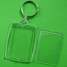 Transparent Blank Insert Photo Picture Frame Key Ring Chain KeyChain CASP