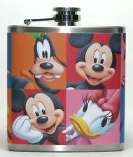 MICKEY MOUSE DISNEY CARTOON GIFT GITFS PARTY BAR 6 OZ LIQUOR HIP FLASK FLASKS