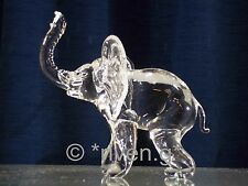 ELEPHANT Figurine@CRYSTAL Glass BEAST@UNIQUE Collectable Gift@Wild Jungle Animal