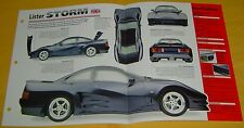 1999 Lister Storm V12 6996cc 594 hp MEFI Twin Superchargers IMP Info/specs/photo