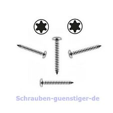 50 Stk. Blechschrauben 3,9 mm DIN 7981 3,9 x 25 Torx Edelstahl V2A