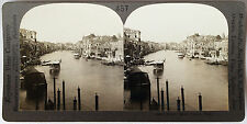 Keystone Stereoview of The Grand Canal, Venice, ITALY from 1910's Education Set