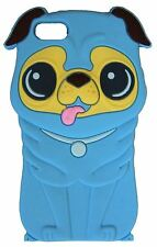 Light Blue Silicone Pug Shar Pei Dog Puppy Phone Case for Apple Iphone 4 / 4S