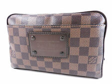 Auth LOUIS VUITTON Bum Bag Brooklyn Waist Belt Pouch Body Bag Damier N41101 5051